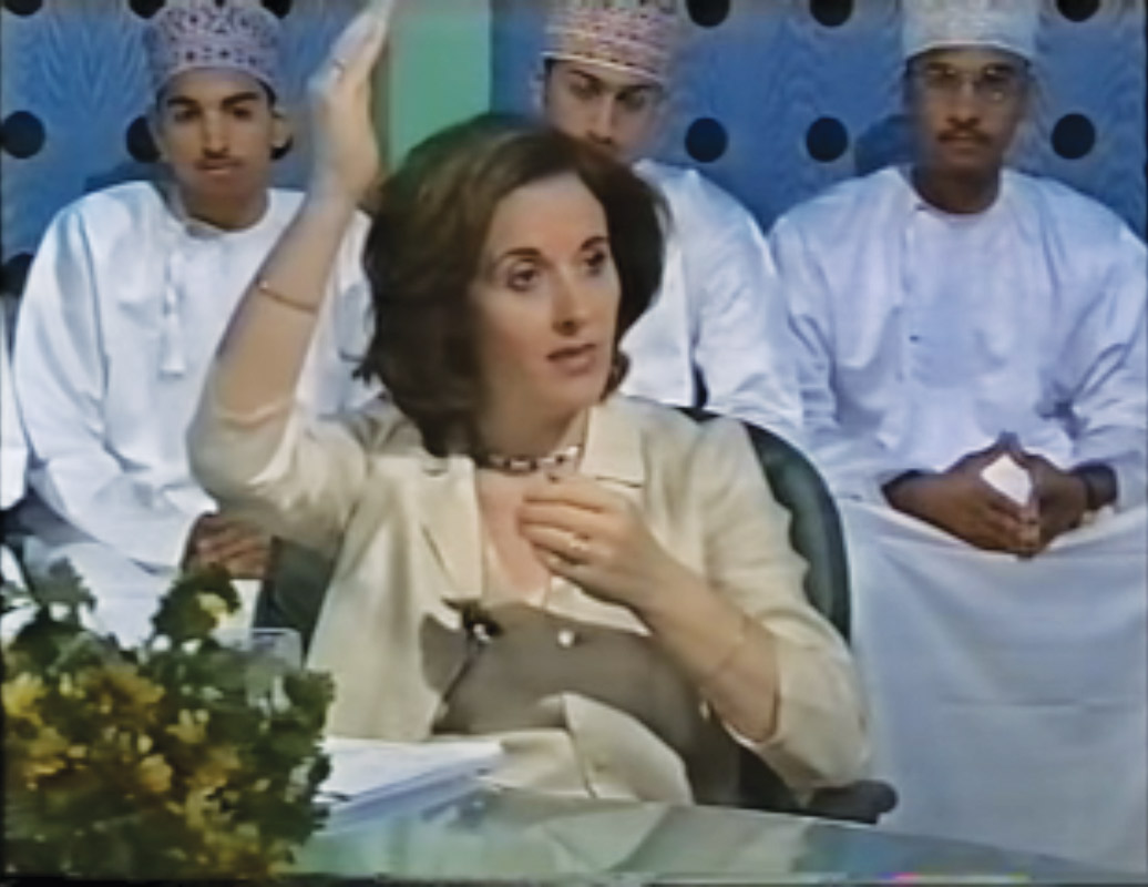 Still-from-video-of-Reiki-master-teacher-Maha-Nammour,-2002