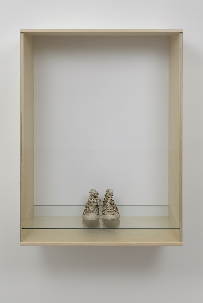 "Haim Steinbach, ""Untitled (sneakers),"" 2013; courtesy Tanya Bonakdar Gallery, New York"
