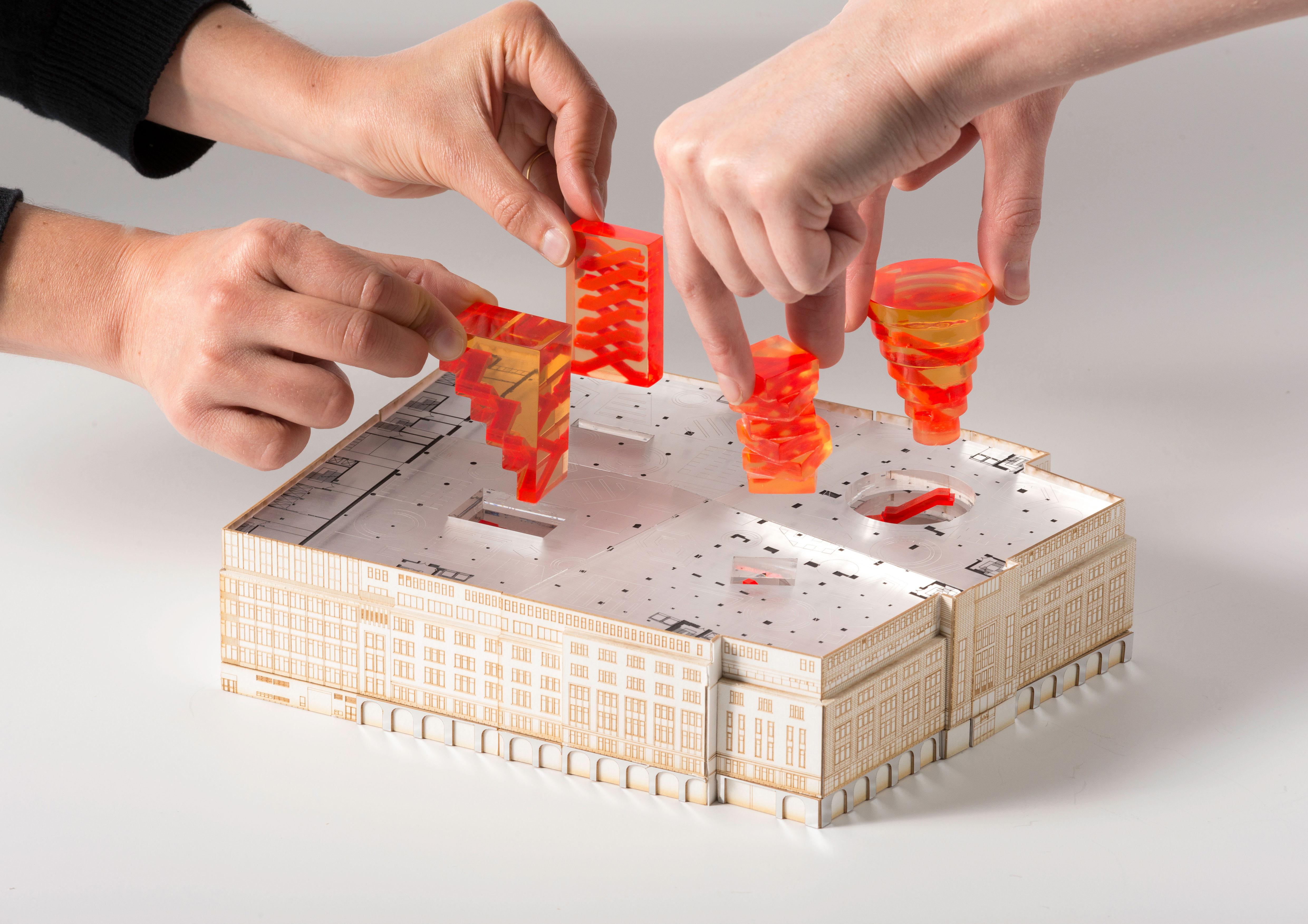 OMA,-Concept-model-of-the-Kaufhaus-des-Westens-(KaDeWe)-renovation